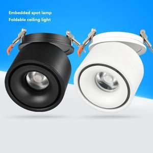 Image 2 - Entrada 85 265Vac 3W para 12W LED embutido para baixo a lâmpada, dobrável e rotativo COB fundo Corredor de teto pode ser escurecido spot light