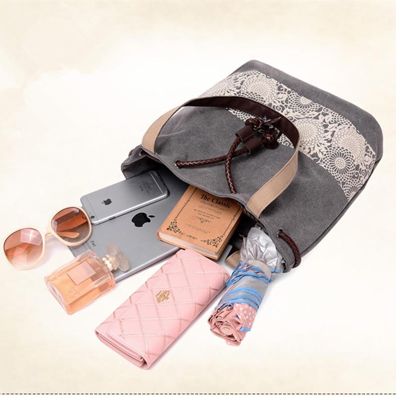 ZXCVBNM 2017 New Women Large Capacity Handbag Lady National Canvas Handbags Female Shopping Bags Casual Classic Schoolbags WH016