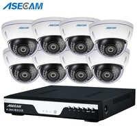 NVR 48 V POE 1080 P sistema CCTV red 2MP HD a prueba de vandalismo Anti vándalo interior Domo detección de movimiento seguridad IP kit de cámara