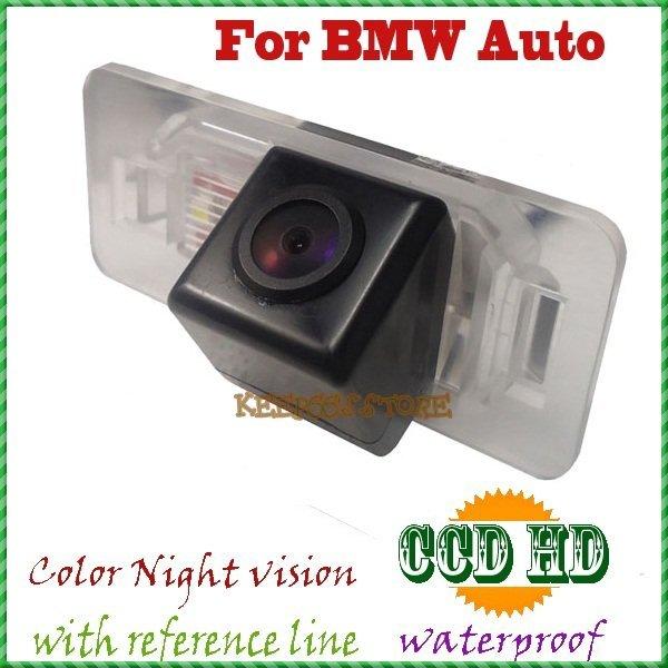 Visão CCD noite CÂMERA de VISÃO TRASEIRA DO CARRO câmera de estacionamento retrovisor sistema câmera reversa PARA BMW 1/3/5/6 Série E46 E53 X5 X6 E46