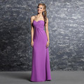 Custom Made 2017 Wedding Bridesmaid Dresses Vestido De Festa Fe Casamento Light Purple Chiffon Pleat Long Bridesmaid Dresses