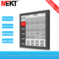 touch screen led monitor hdmi display waterproof, 17 inch vga Industrial screen Computer Touch usb monitor