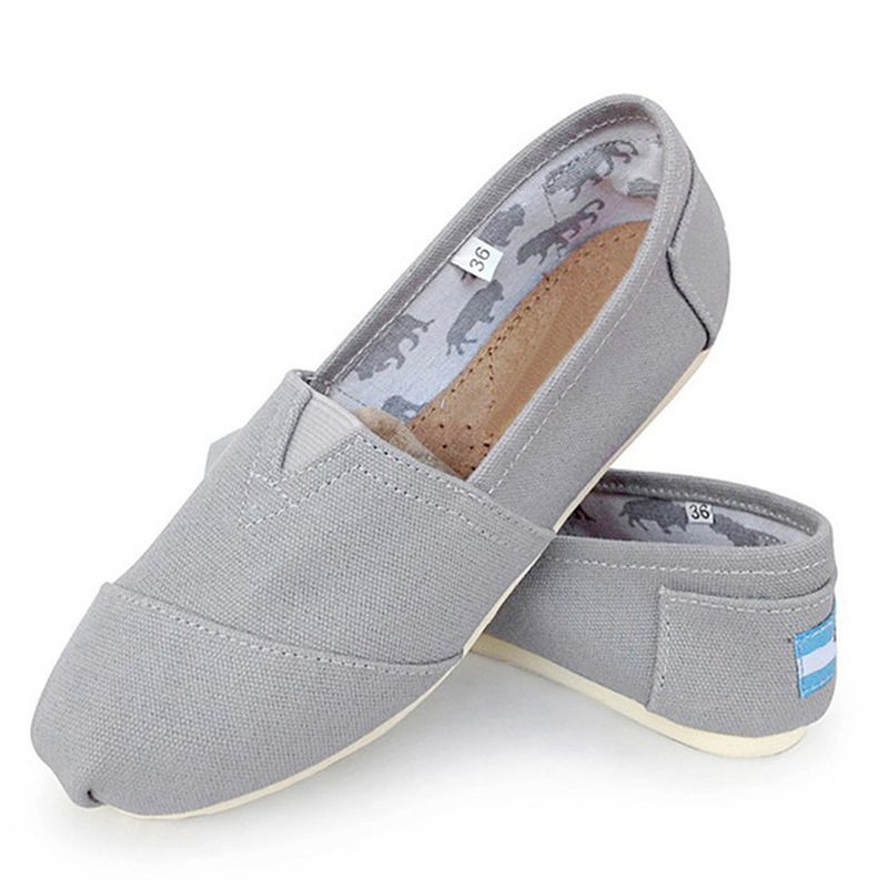 Canvas Shoes Loafers Fabric Comfortable Spring Women Flat Female Plus-Size Ladies Sewing