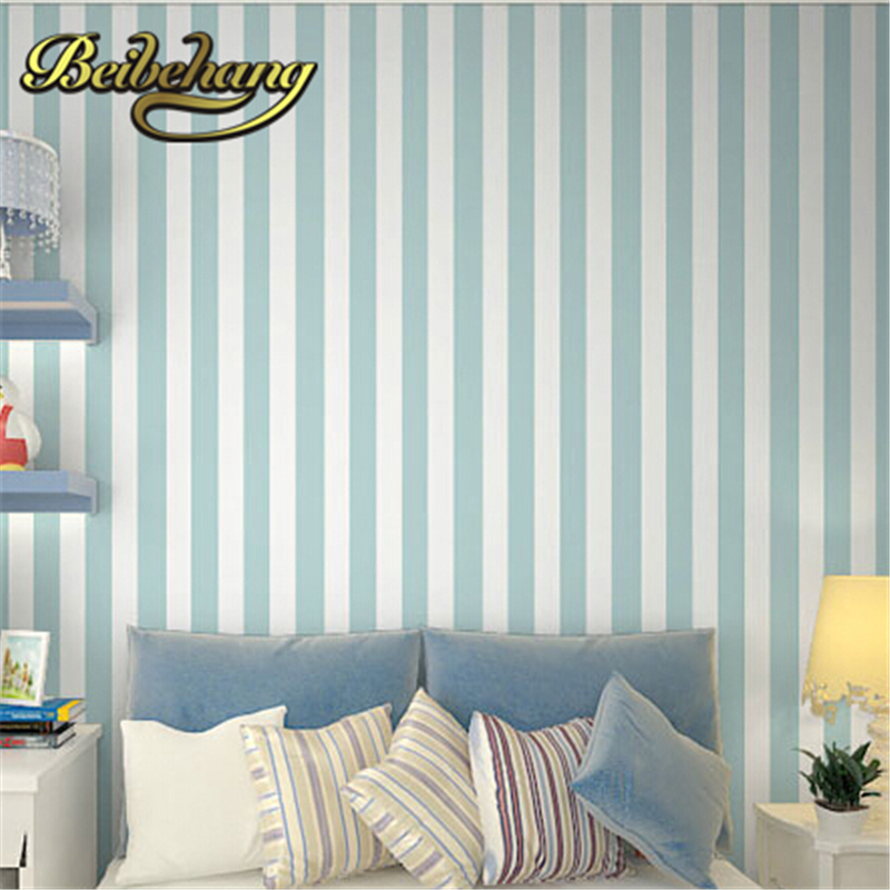 beibehang papel de parede. sky blue and white stripe wallpaper roll home decor background wall for living room bedroom dini технопарк машина технопарк краз аварийная служба