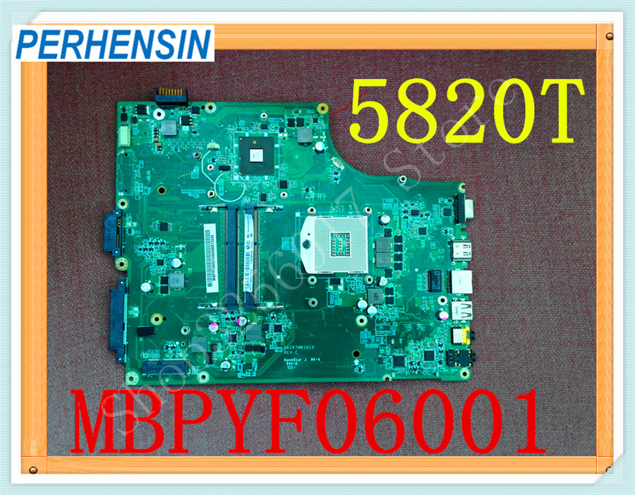 For Acer 5820 5820T Laptop MOTHERBOARD MBPYF06001 MB.PYF06.001 DAZR7MB16C0 HM55 DDR3 laptop motherboard for acer aspire 5820g 5820t 5820tzg mbptg06001 dazr7bmb8e0 31zr7mb0000 hm55 ddr3 mainboard