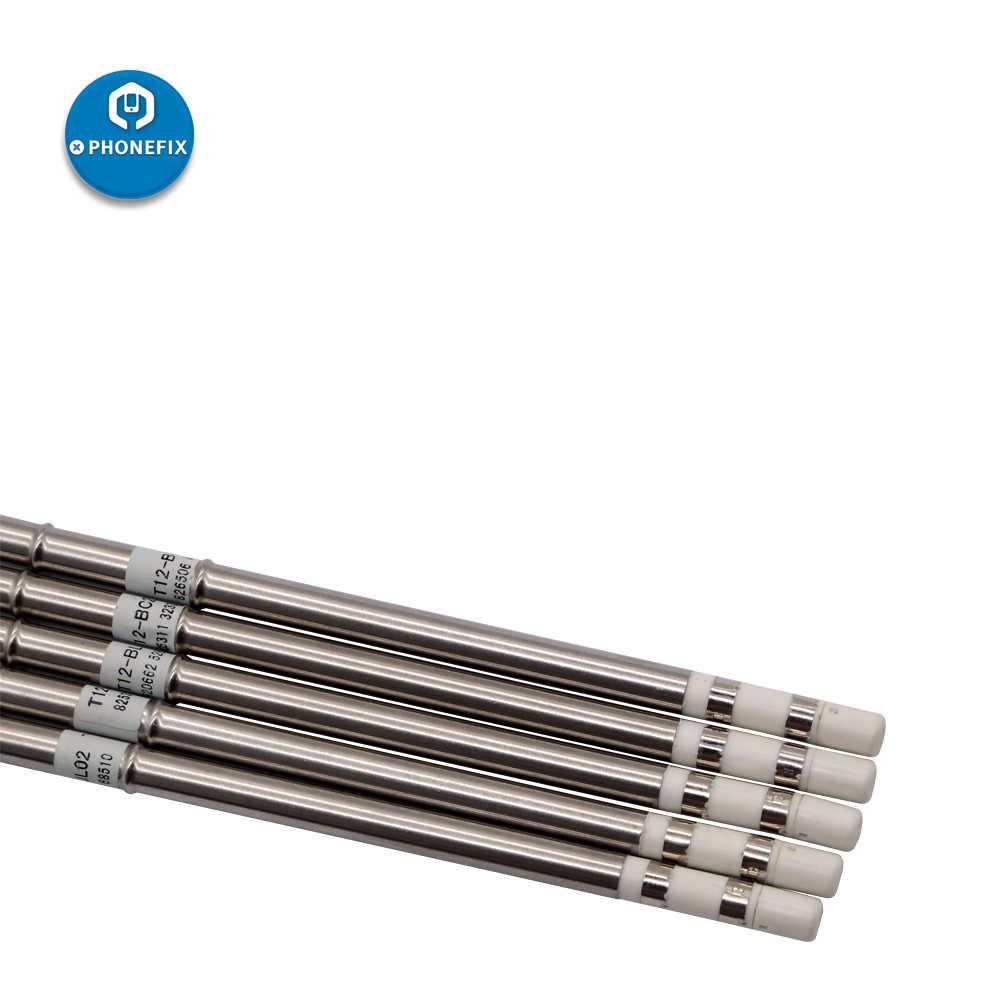 T12 várias pontas do ferro de solda peças de reposição para hakko FX-951 FX-952 950 estação de solda telefone placa-mãe smd solda