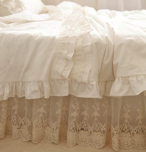 Ensemble de literie à volants en dentelle blanche de luxe, une fille - Textiles de maison - Photo 2