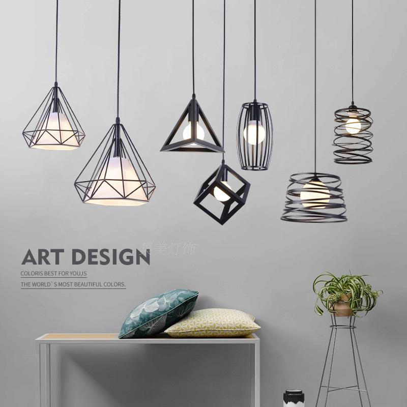 Nordic brief modern dining room pendant light personalized vintage iron bar lamps single head single head small bar of korean modern minimalist iron pendant lamps dining room pendant light the living room kitchen