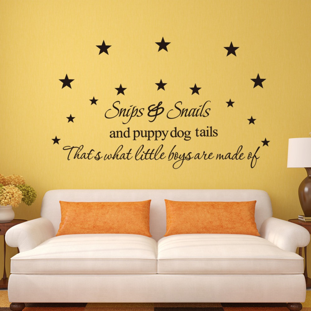 Quote wall decoration Snips & Snail letter home wall sticker ...