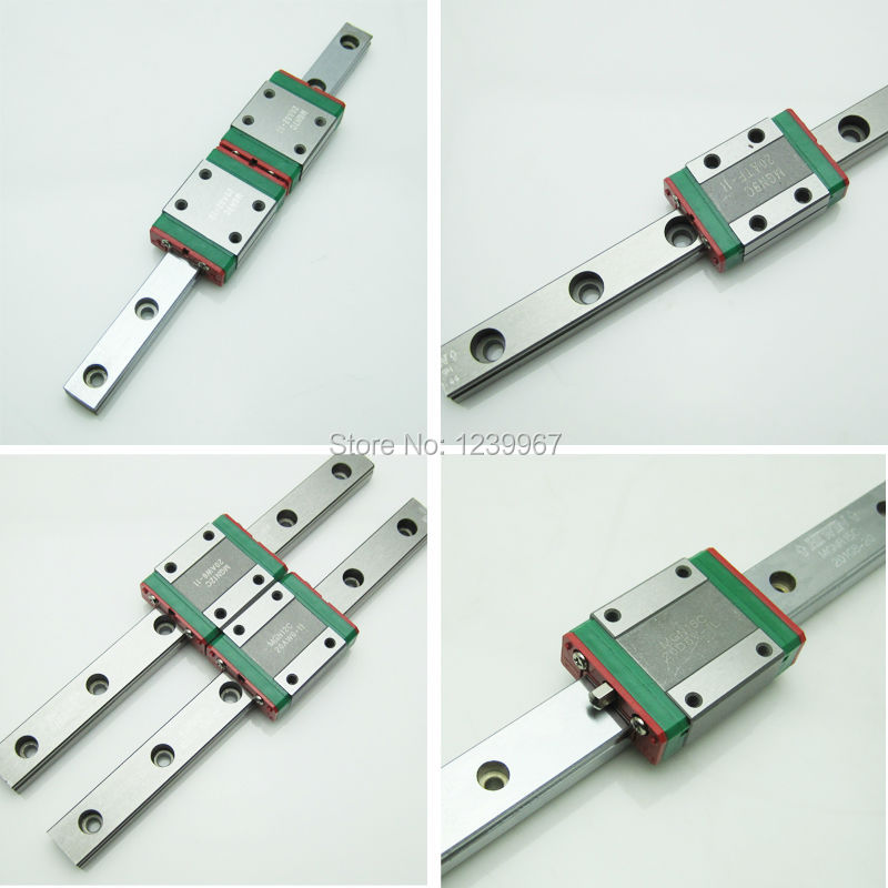 ФОТО 1set 12mm HIWIN Miniature Linear Guide Rail MGNR12 L-250mm with 1pc Linear Block Carriage MGN12C CNC Parts