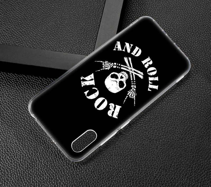 Heißer Rock roll Weiche Silikon Fall für Huawei Mate 10 20 Lite Pro Genießen 8 9E Y6 Pro Y5 2017 y7 Pro Y9 2019 2018 Mode Abdeckung