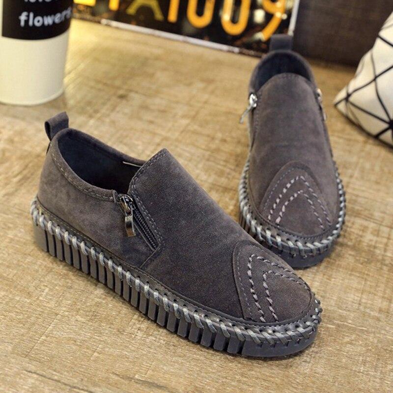 2016 New Spring Fall Fashion Flat font b Women b font Loafers Shoes Platform A Pedal