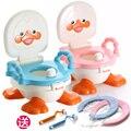 Pequeño pato apoyabrazos niño zuopianqi multifuncional bebé bebés niño Ducky Fun 3-en-1 aseo bacinica higiénico niño
