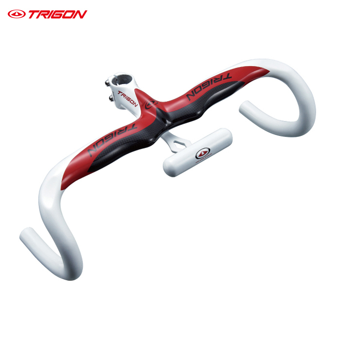 TRIGON RB117 One Piece Integrated Full Carbon Fiber Road Racing Bike Bicycle Handlebar Carbon Handlebar Road