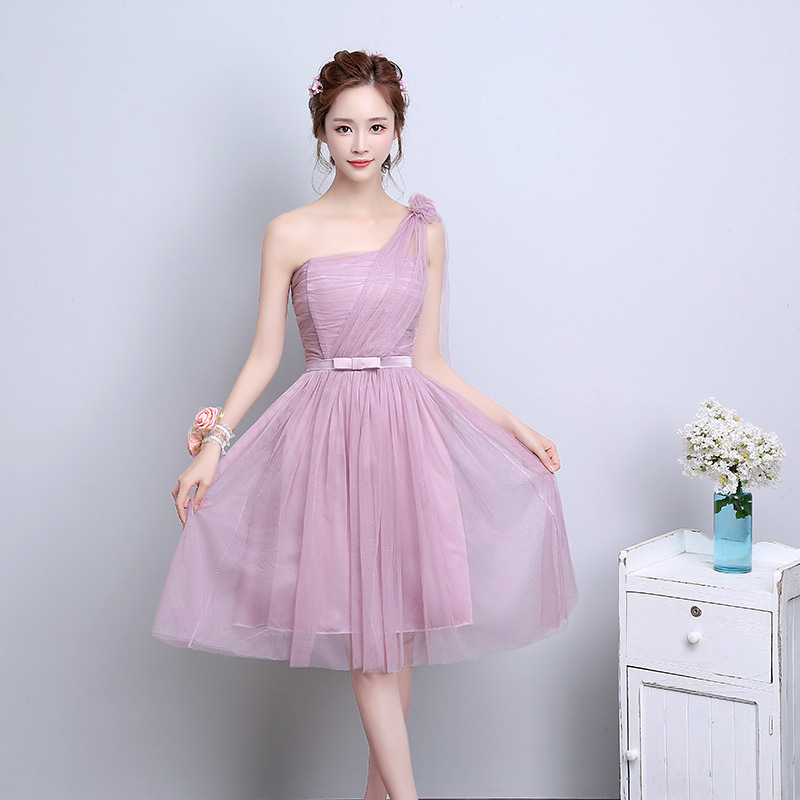 Popular Pink and Brown Bridesmaid Dresses-Buy Cheap Pink and Brown ...
