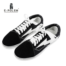 Adult Male Casual Denim Tennis Shoes Popular Man Leisure Canvas Shoes Hot Selling Man Solid Color Lace-Up Men's Flats Footwears