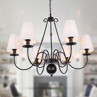 American wrought iron chandelier European country retro living room lamp modern minimalist Nordic bedroom dining room lamps 3