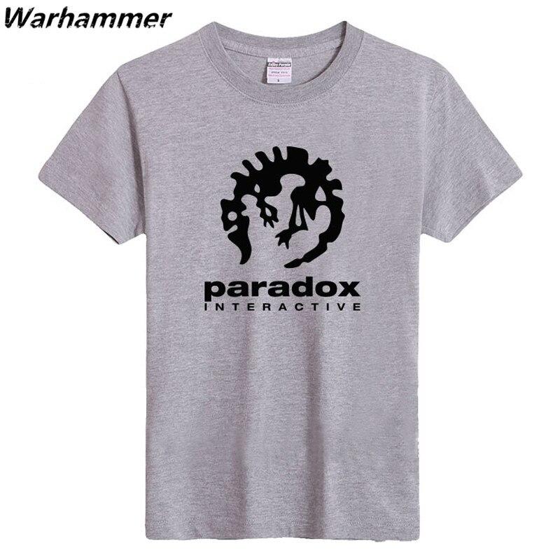 Paradox Interaktif Erkek Moda Spor T-shirt Kısa Kollu Oyun Oyuncu - Erkek Giyim - Fotoğraf 4