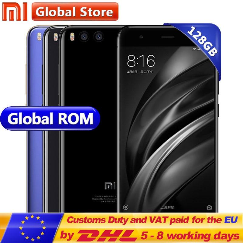 Original Xiao mi mi 6 mi 6 128 gb ROM 6 gb RAM Android 7.1 Handy Snapdragon 835 Octa Core 5,15