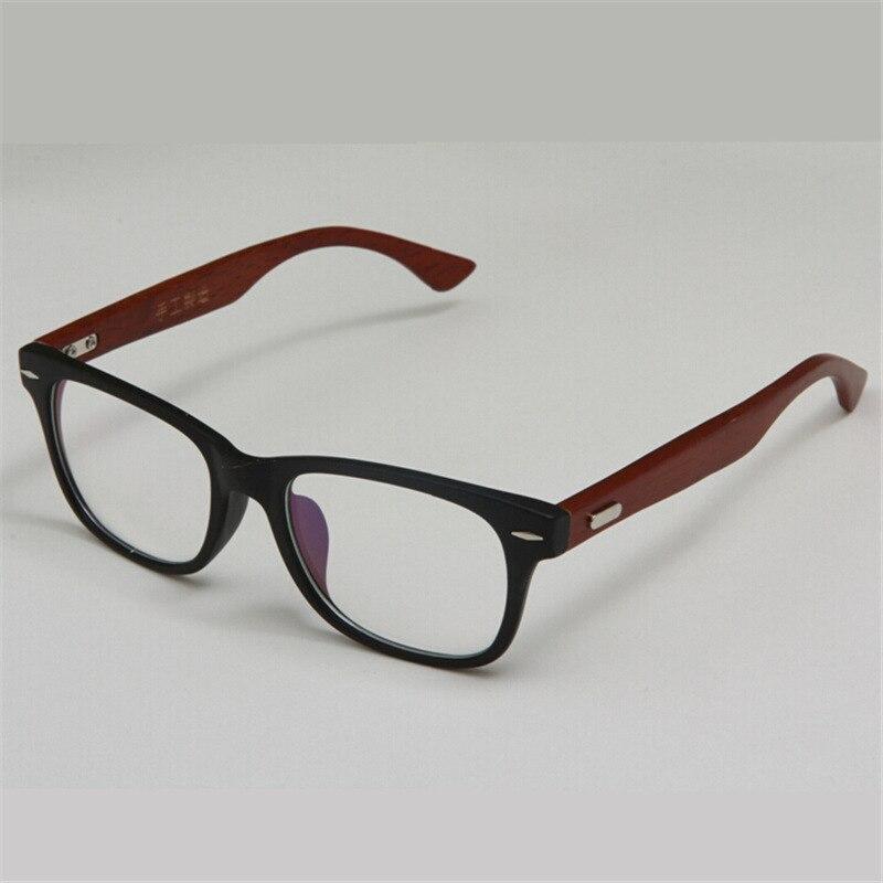Stylish Handmade Wooden Glasses Frame Green Natural Wood Bamboo Eyeglasses Frames Vintage Spectacle Frames Black Brown Colors reflection