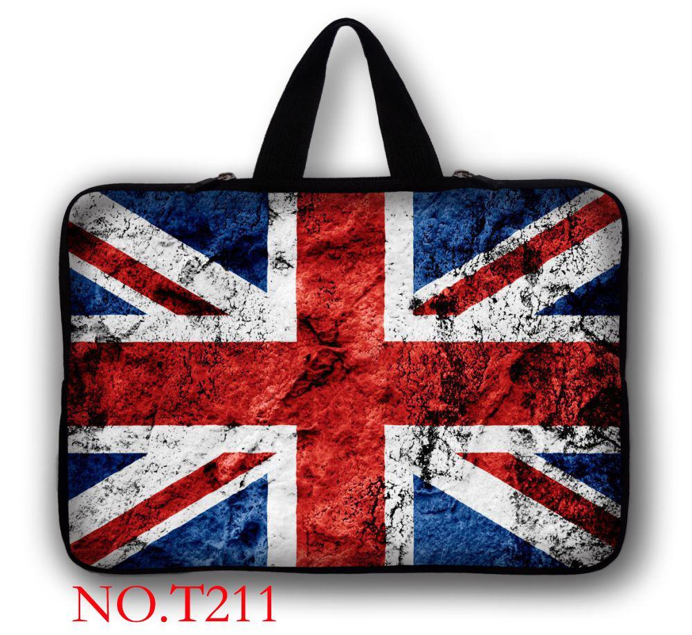 "UK Flag 17"" Soft Laptop Sleeve Bag Case + Handle For 17.3"" HP Pavilion DV7 G7 E17 /Alienware"