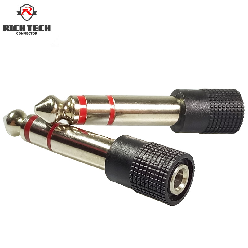 2pcs 6.35mm Plug 1/4 Male Plug to 3.5mm 1/8 Female Jack Stereo Headphone Audio Adapter TRS 6.5mm to 3.5mm Converter2pcs 6.35mm Plug 1/4 Male Plug to 3.5mm 1/8 Female Jack Stereo Headphone Audio Adapter TRS 6.5mm to 3.5mm Converter