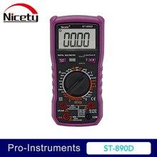 цена на Nicety ST890D 6000 counts DMM Studends multimeter 10A 1000V Manual Range Capacitance True RMS Digital Multimeter OD