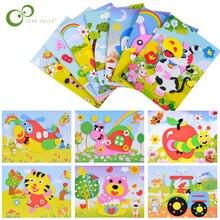 8 дизайнов/лот 3D EVA пена стикер DIY мультфильм животных головоломка для детей Дети мульти-узоры стильные игрушки для детей подарок WYQ
