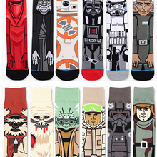HIMEALAVO 2018 Star Wars Sale Hot Autumn And Winter New Cartoon Funny Men Socks Stockings Planet