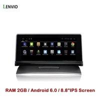 Lenvio Оперативная память 2 ГБ 8.8 IPS 2 DIN Android 6.0 Автомобильный GPS DVD плеер для VW Volkswagen Touareg 2011 2012 2013 2014 2015 2016 стерео радио