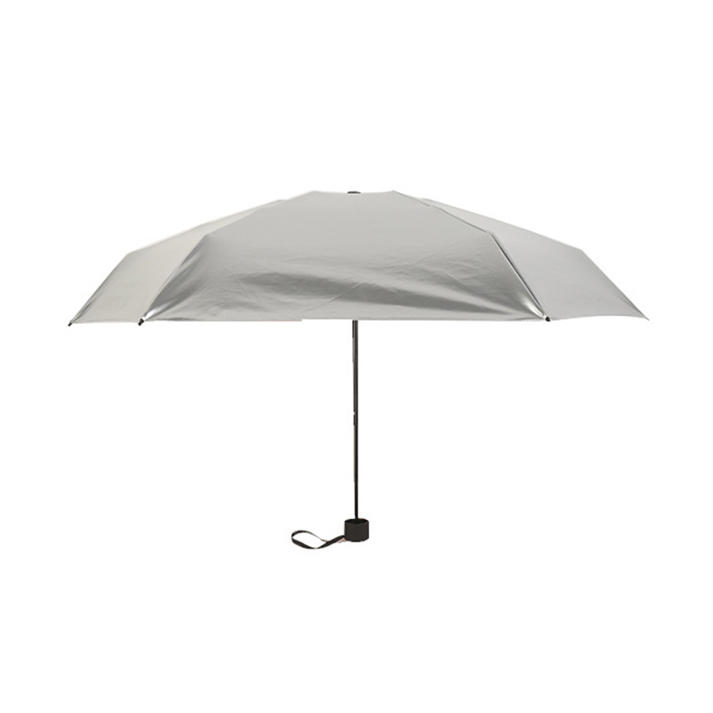 Titanium silver sun block uv silver gum 50 folding parasol ladies sunny rain ultra light mini compact folding parasol in Umbrellas from Home Garden