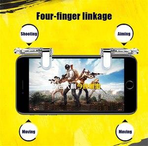 Image 5 - PUBG Mobile l1r1 tirador controlador botón joystick gamepad para teléfono inteligente android para iphone Teléfono universal disparador de juego