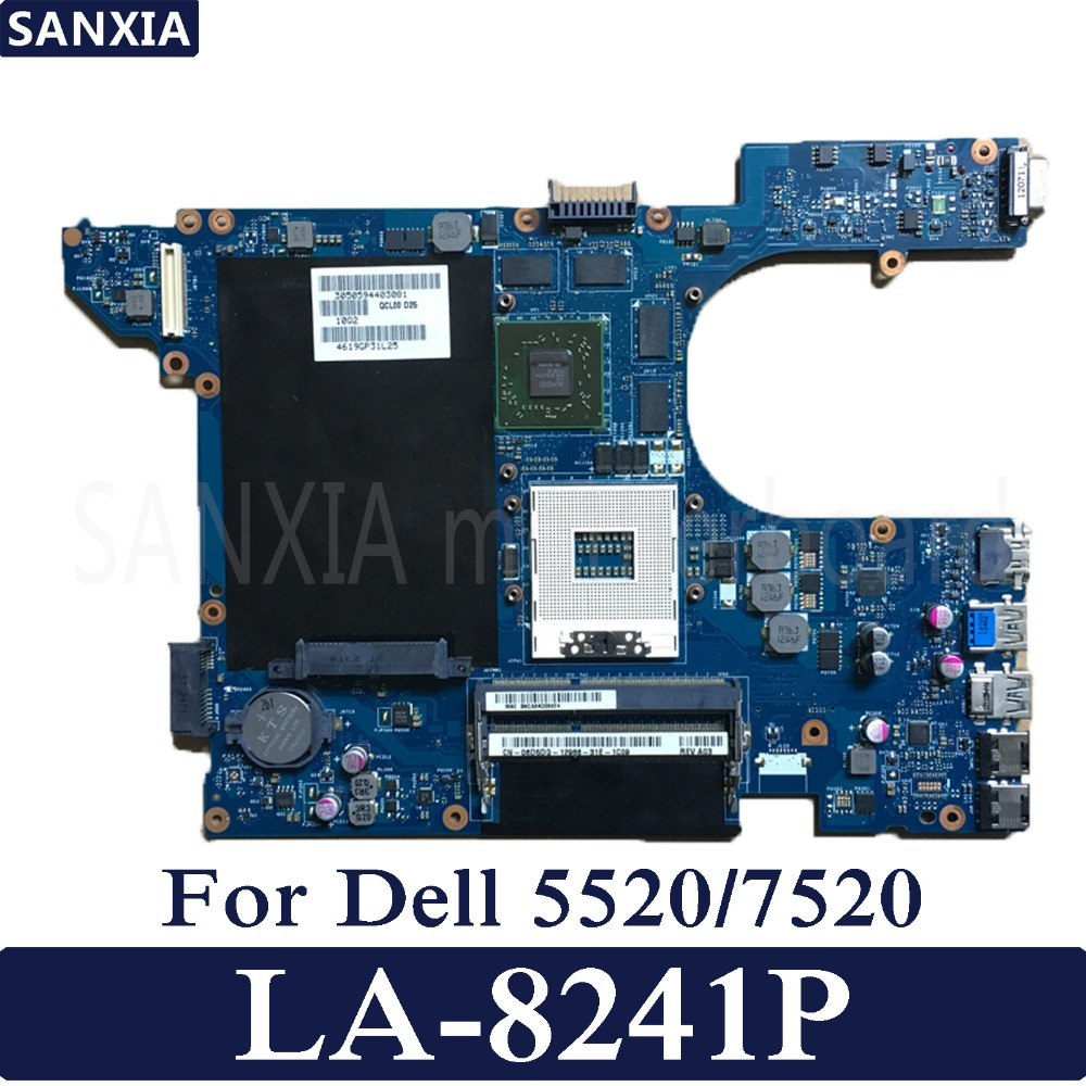 KEFU QCL00 LA-8241P Laptop motherboard for Dell 5520 7520 Test original mainboard with Video card nokotion brand new qcl00 la 8241p cn 06d5dg 06d5dg 6d5dg for dell inspiron 15r 5520 laptop motherboard hd7670m 1gb graphics