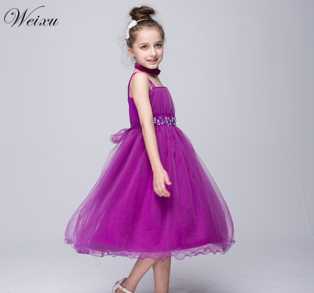 Weixu Teenager Mädchen Party Kleid Kinder Tüll Ballkleid ...