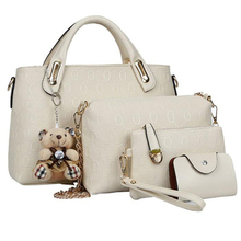 Women bag top-handle bags fashion lady messenger handbag set