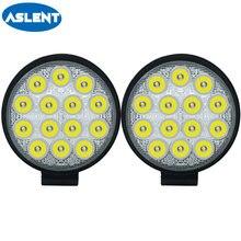 Aslent 4 дюйма 42w 4200lm круглый светодиодный рабочий светильник