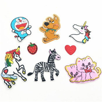 Sewing Clothes Patch Iron On Embroidery Patches Hotfix Applique Motifs Sew On Garment Stickers car candy pop corn and other. image