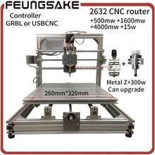 CNC Wood Router 15w laser GRBL Diy CNC machine USBCNC with 300w