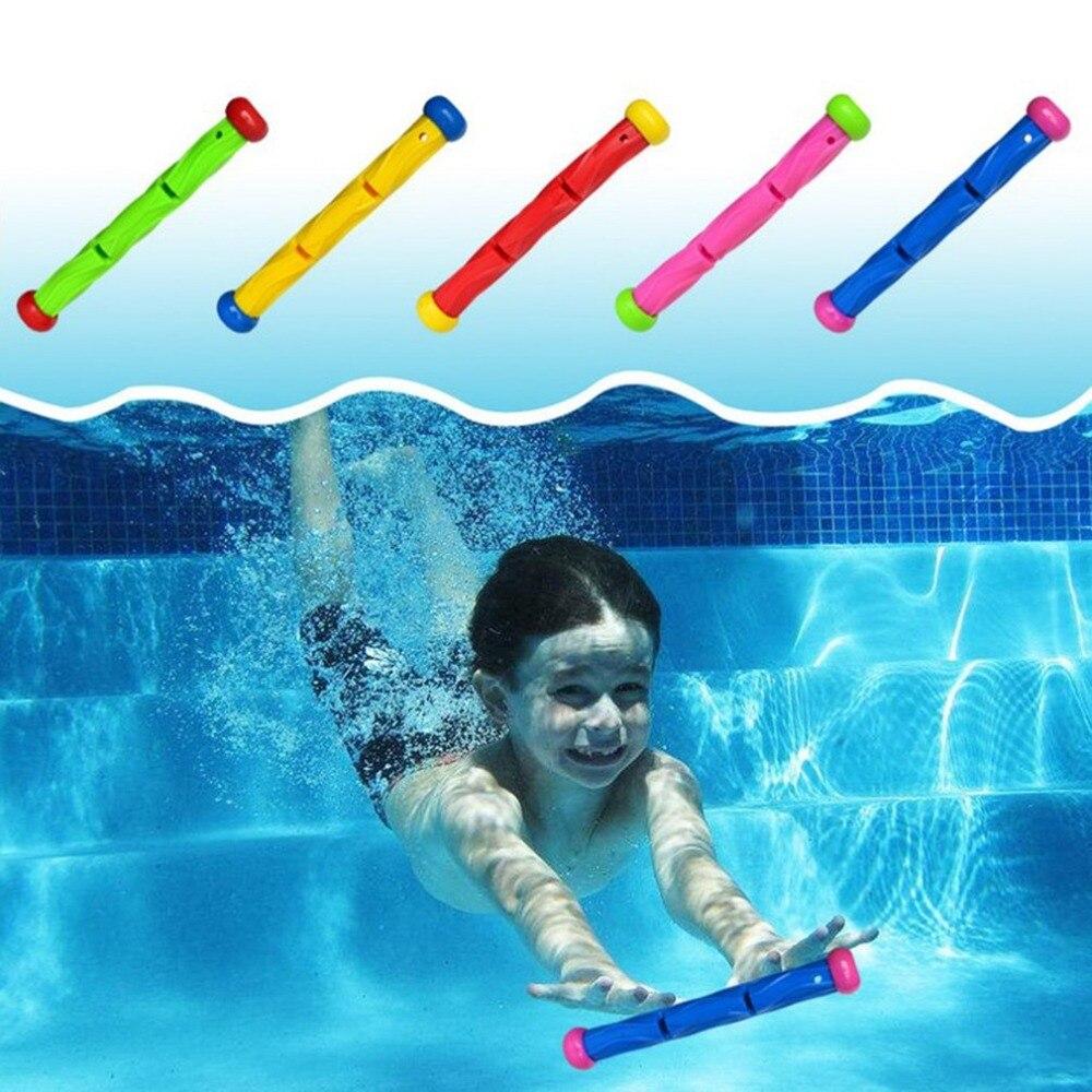 5 pcs צבעים צלילה מקל צעצוע שחייה מתחת למים צלילה בריכת צעצוע תחת מים משחקי אימון צלילה מקלות