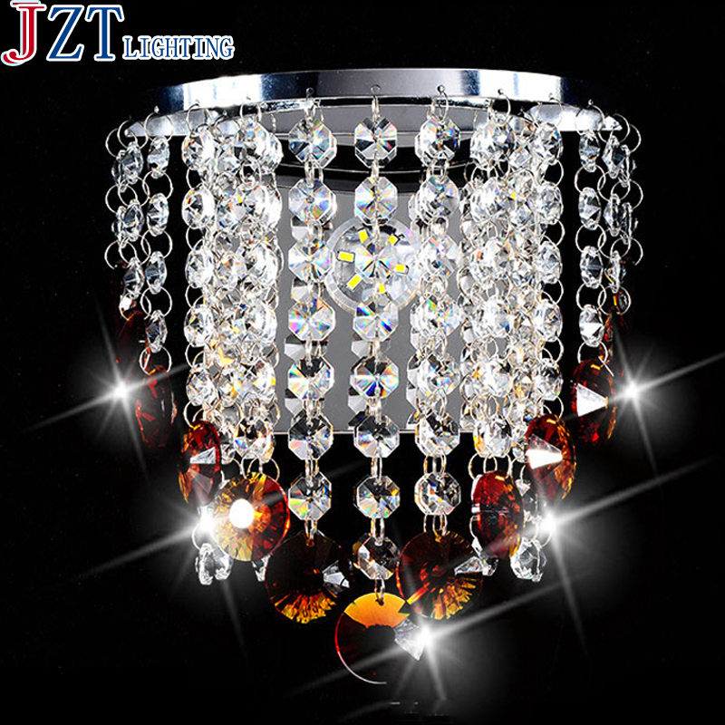 Crystal Wall Lights Contemporary : ?M Modern Crystal Wall Lamp ? Sconce Sconce Light Ac90-260v E14 ? D20 D20 * H29cm Home Lighting ...