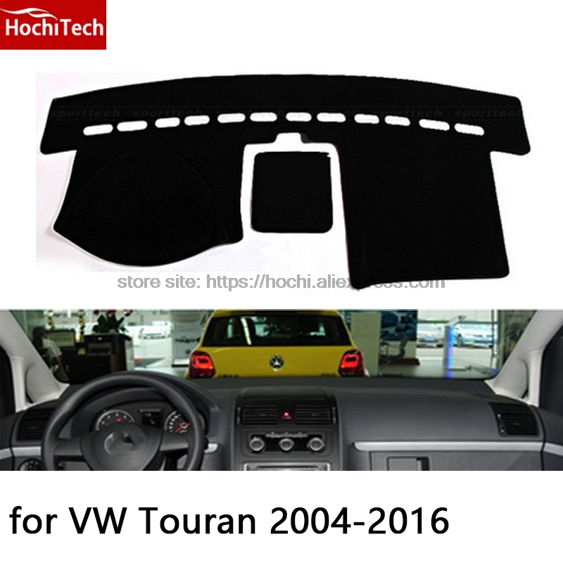 HochiTech for Volkswagen VW Touran 2004-2016 dashboard mat Protective pad Shade Cushion Photophobism Pad car styling accessories car rear trunk security shield shade cargo cover for volkswagen vw touran 2016 2017 2018 black beige