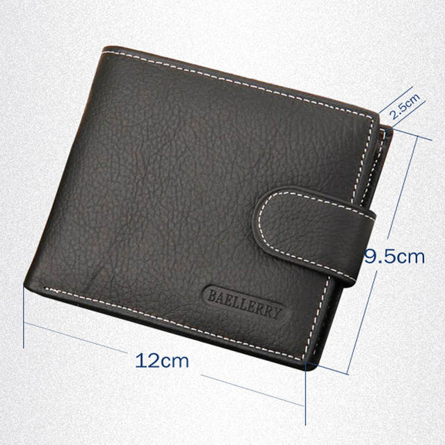 3cb2b879a908 placeholder Wallet Men Leather Coin Pocket Credit Card Holder Genuine  Leather Wallets Male Purse Money Case Money
