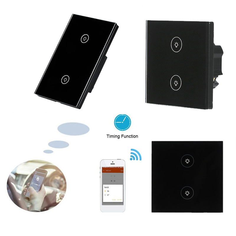 Smart Switch WIFI Touch Wall Switch AC 100-240V Two Gang Sma