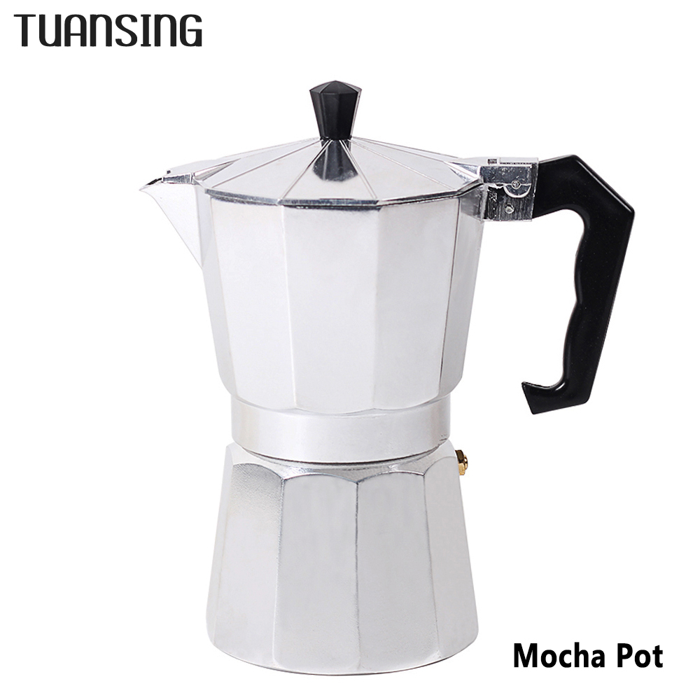 TUANSING Stovetop Coffee Maker Aluminum Mocha Espresso Percolator Pot Coffee Maker Mocha Pot 1cup/3cup/6cup/9cup/12cup