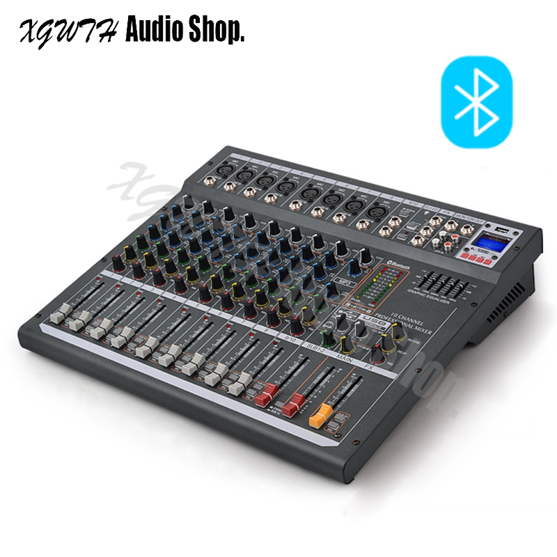 buy 10 channels audio mixer professional dj mixing console with digital dsp. Black Bedroom Furniture Sets. Home Design Ideas
