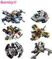 [Bainily] 1 unids Star Wars Nave Espacial Starwars Clone Wars Troopers Naves de Combate Bloques de Construcción Ladrillos Compatible Con Legoe juguetes