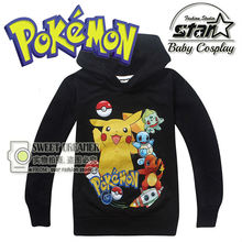 2016 Children Boys Pikachu Charmander Pokemon Sweatshirt Boys Girls Winter Fashion Sudaderas Casual Harajuku Pullover Hoodies