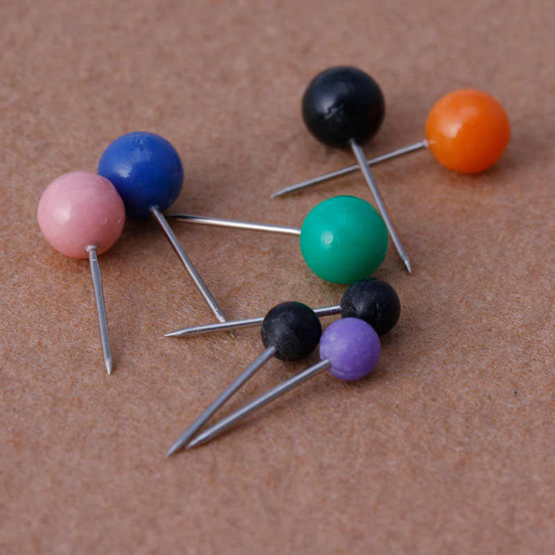 50 Pcs/Tas Bulat Pearl Kepala Pin Memancing Baris Bros Multicolor Fishing Tackle
