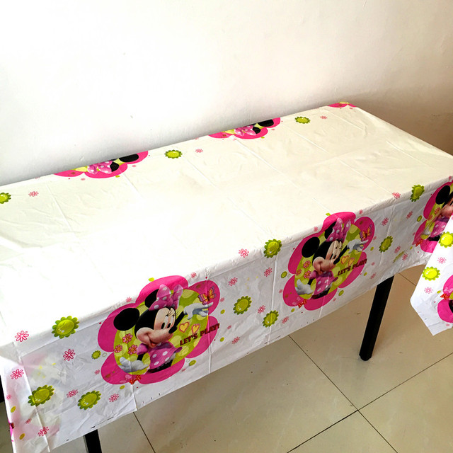 1pcslot Minnie Tablecloths Baby Shower Minnie Theme Table Cover