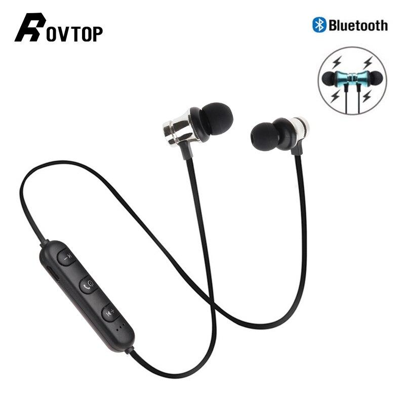 Rovtop Wireless Bluetooth Earphone XT11 Magnetic Sport Running Wireless Bluetooth Headset For IPhone 6 8 X 7 Xiaomi Hands Free
